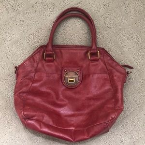 Elliot Lucca Distressed red leather handbag